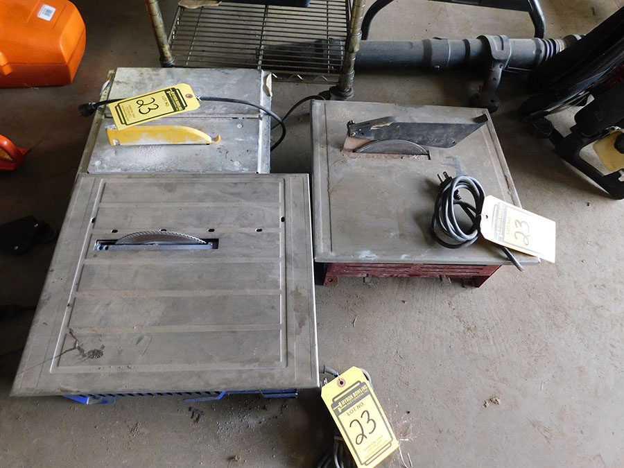LOT OF (3) TILE CUTTING MACHINES