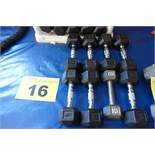 LOT OF (4) PAIRS OF 10 LBS DUMBBBELLS