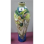 A Moorcroft Pottery Vase, painted in the Tree Doves pattern by Emma Bossons, limited edition no.