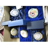 Halcyon Days Enamelled Trinket Boxes, Golden Jubilee, Floral, Queen Mother, Charlotte, George,