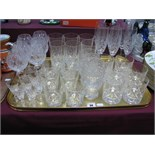 Drinking Glasses, to include whiskey, liqueur, champagne:- One Tray