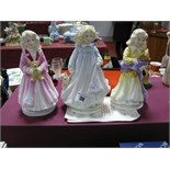 Royal Doulton Figurines - Faith HN3082, Hope HN3061 and Charity HN3087, each produced to support the