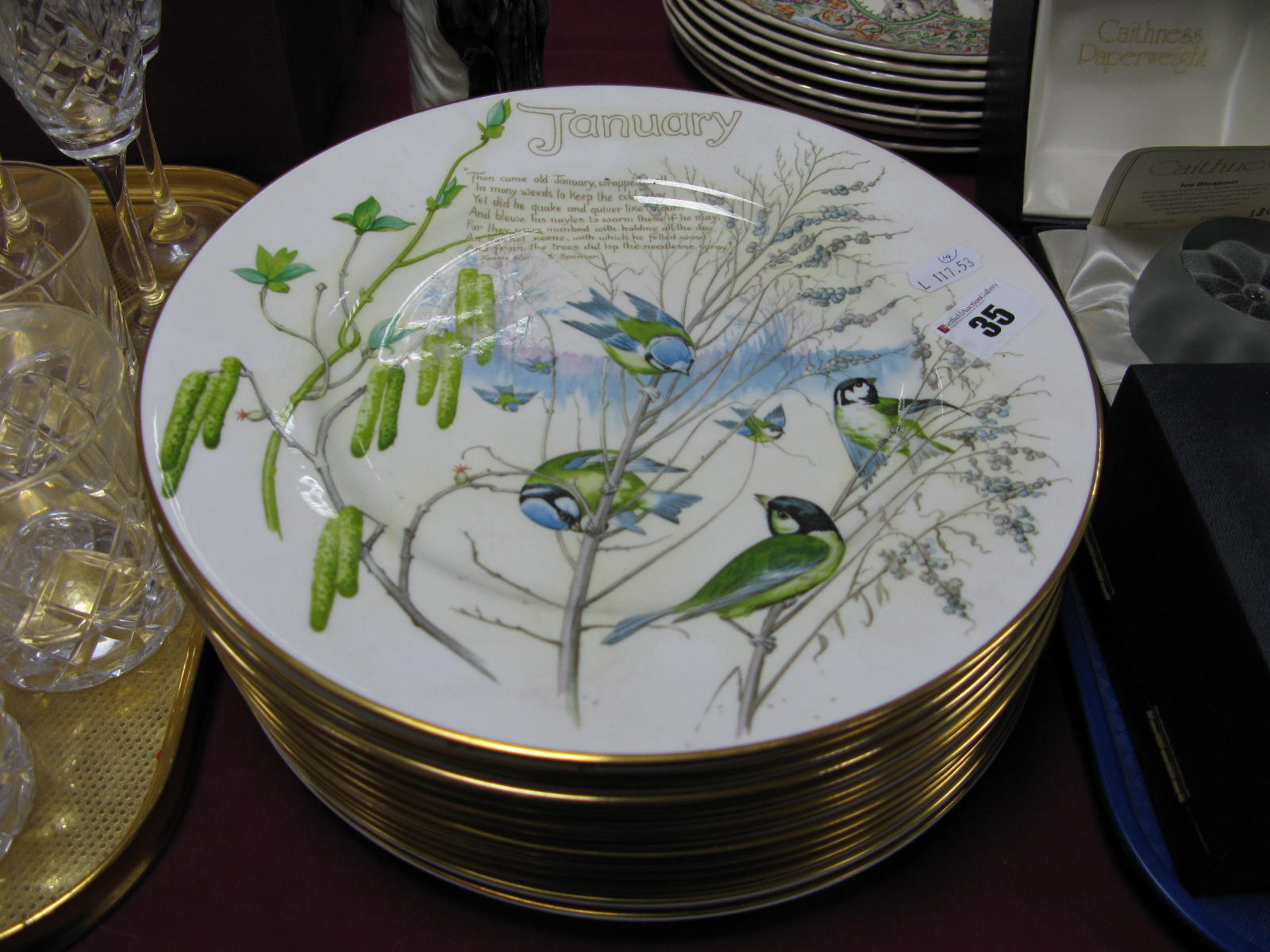 Lot 35 - A Set of Twelve Caverswall China Plates From The Months of The Year Collection, from The Country