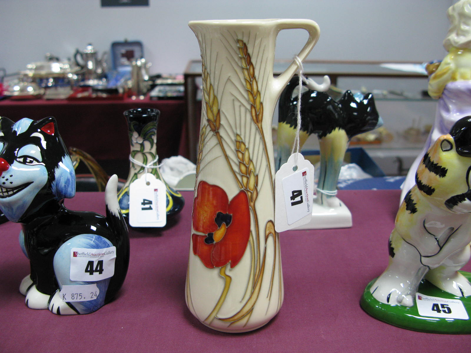 Lot 47 - A Moorcroft Pottery Jug, painted in the Harvest Poppy pattern by Emma Bossons, impressed and painted
