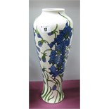 A Moorcroft Pottery Vase, painted in the Delphinium pattern by Kerry Goodwin, shape 121/14,