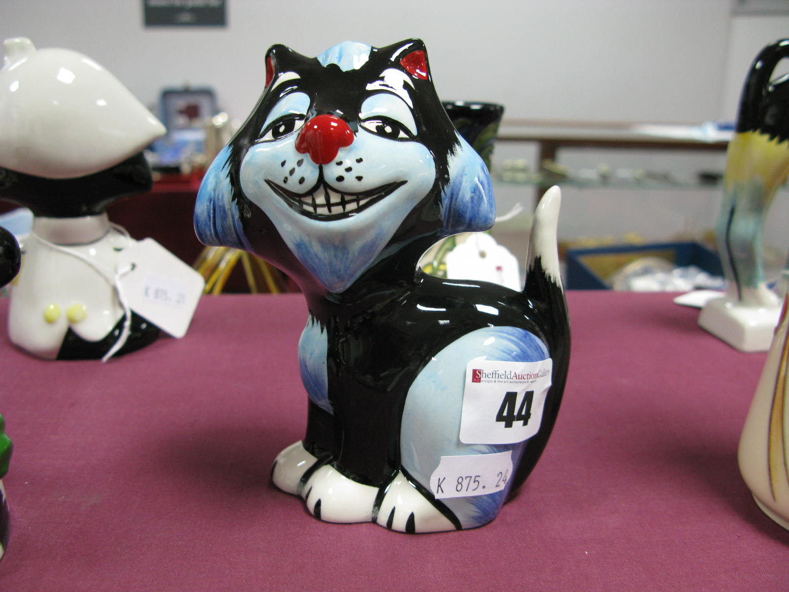 Lot 44 - Lorna Bailey - Gnasher the Cat, limited edition 1/1 in this colourway.