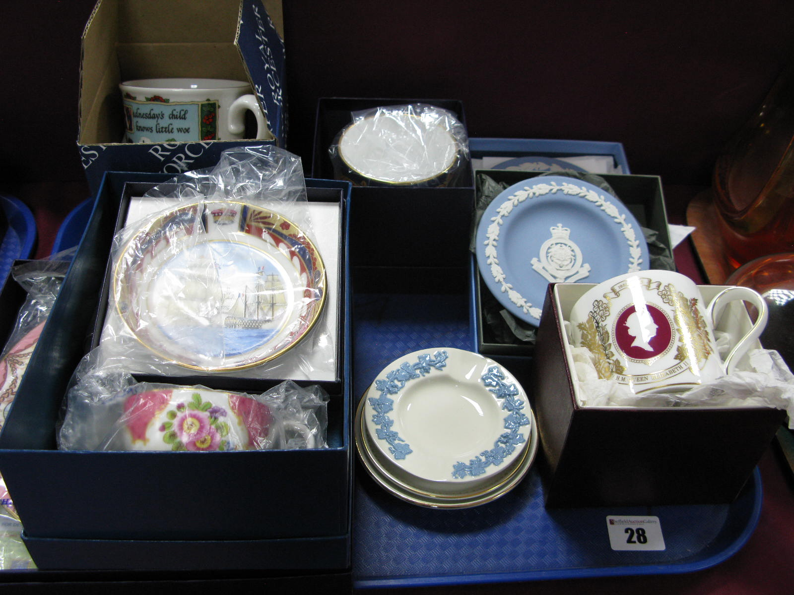 Lot 28 - Royal Worcester and Wedgwood Boxed Ceramics:- One Tray