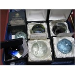 Caithness Paperweights: Glamis Castle, limited edition No. 139/250; Royal Wedding Moonflower, No.