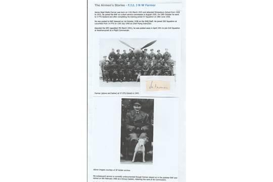 Signature of Flight Lieutenant Later Air Commodore James