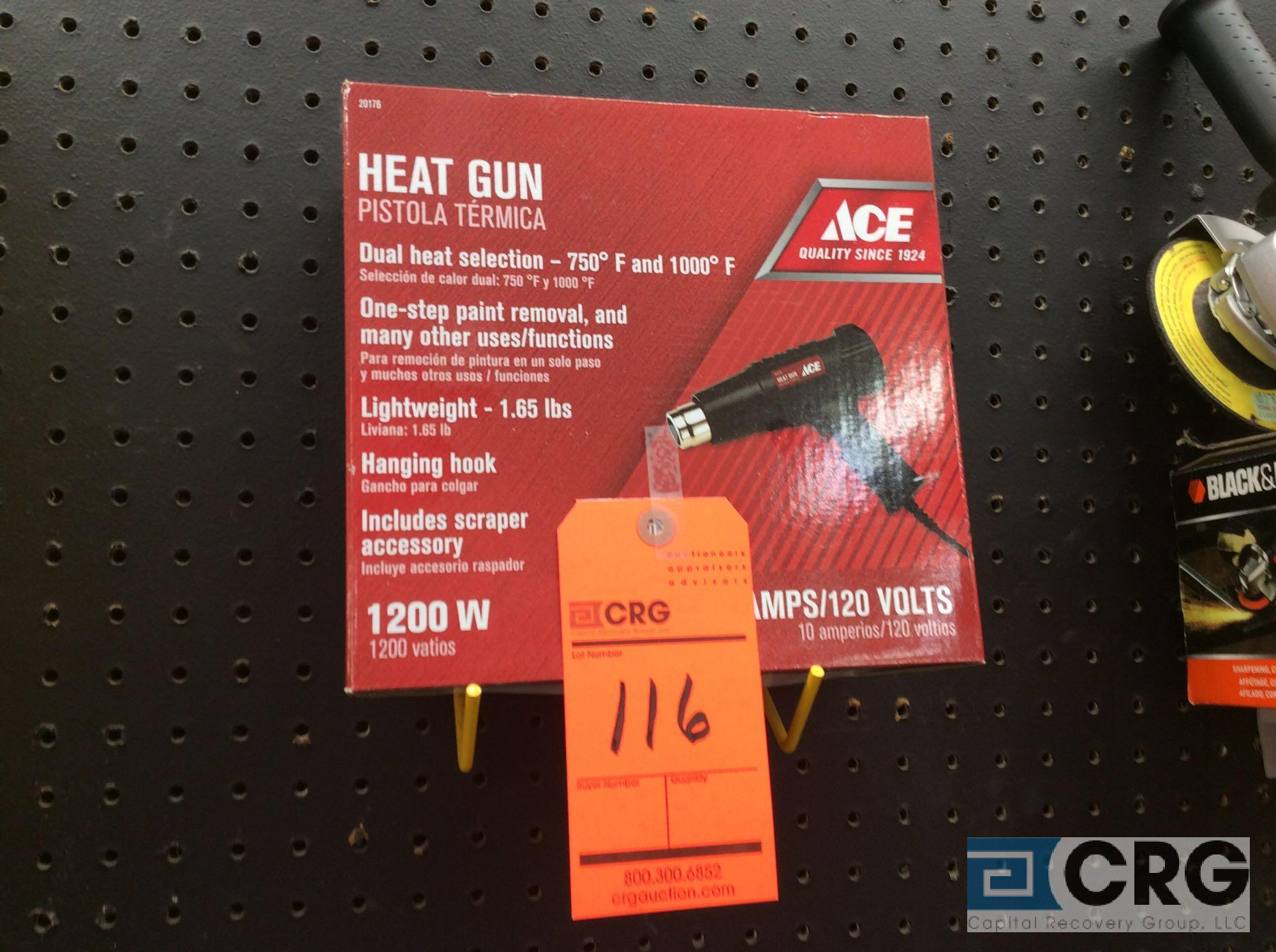 Lot 116 - Ace 1200 watt electric heat gun (NEW)