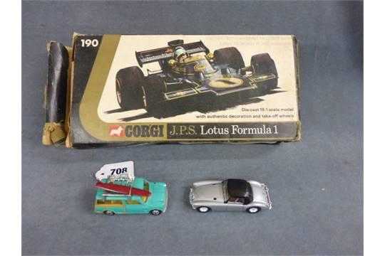 Boxed Corgi 190 Jps Lotus Formula1 Tatty Box Plus Corgi Austin