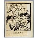 Gottfried Benn. Söhne. Neue Gedichte. Berlin, A. R. Meyer [1913]. Originalbroschur mit