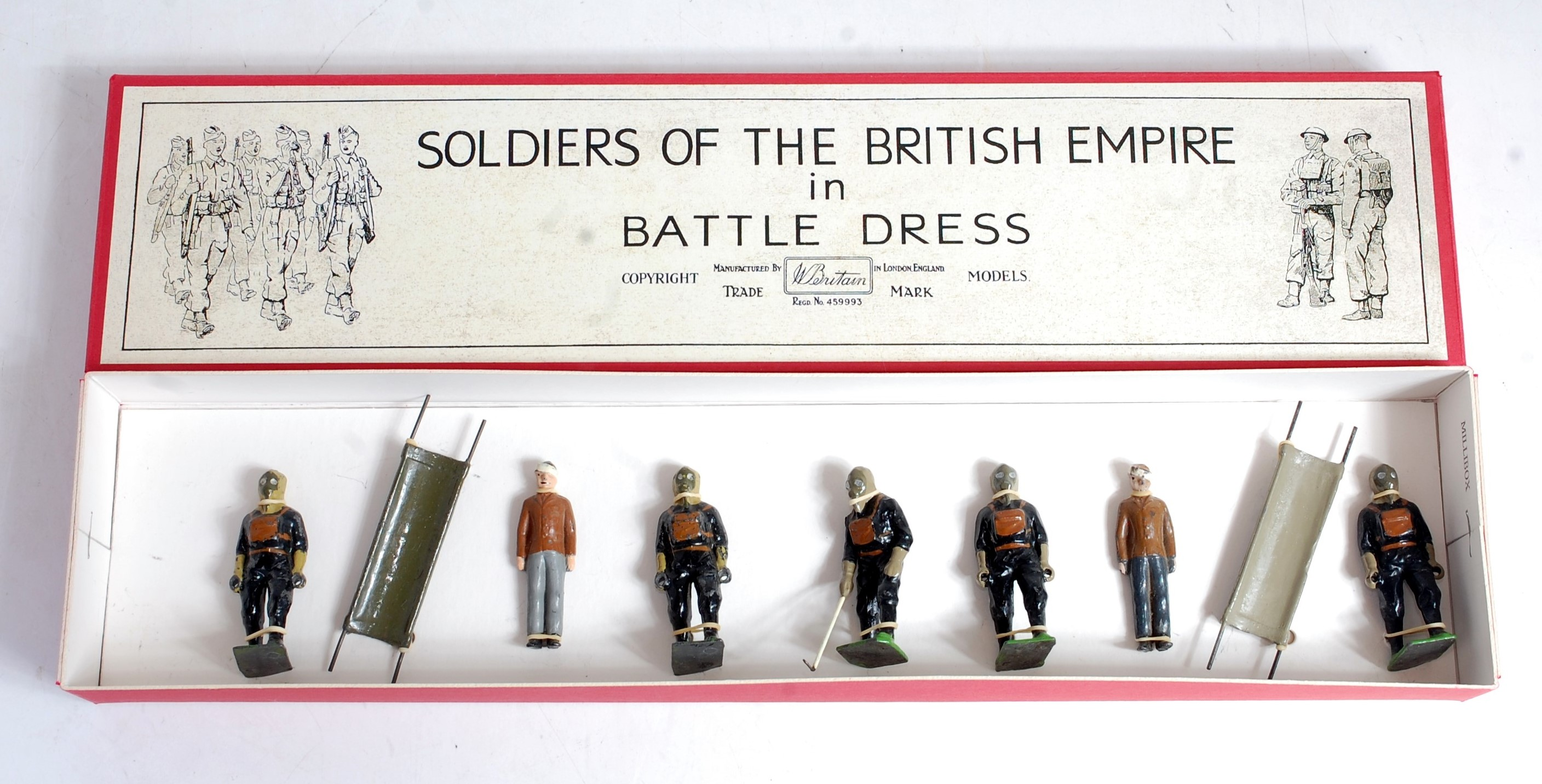 Lot 1216 - A Britains from Set 1759 Air Raid Precautions First Aid and Gas Detection Services set, to include