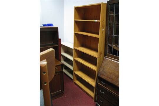 pine effect bookcase 1