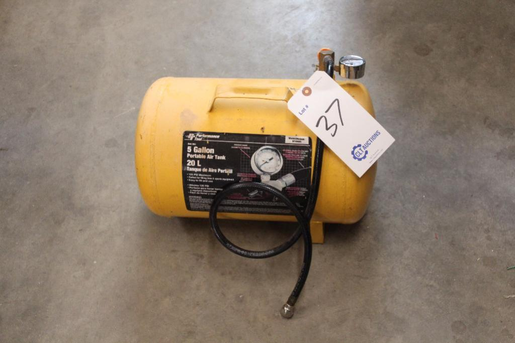 Lot 37 - 5 gallon portable air tank