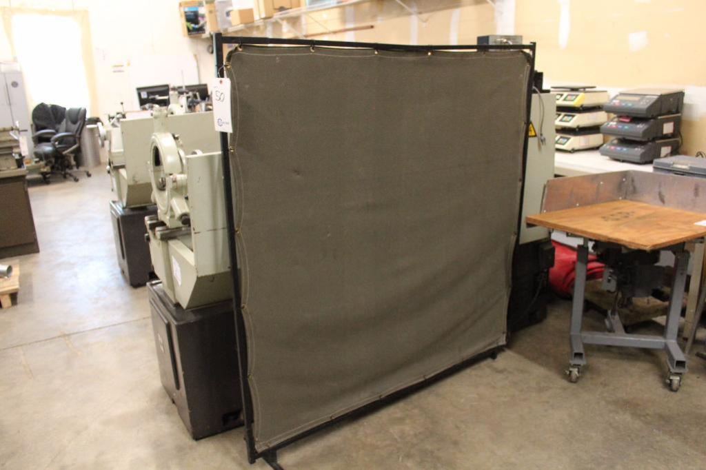 "Lot 50 - Welding Curtain 59"" x 62"""