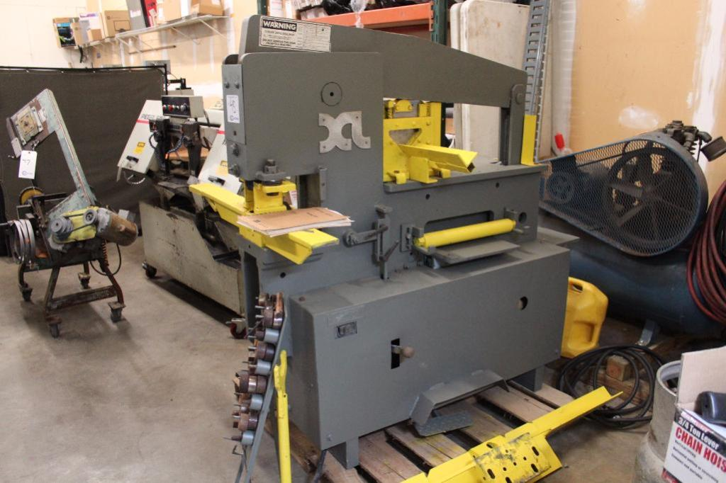 Lot 45 - Excel 5075 50 Ton Ironworker w/ tooling