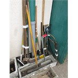 LARGE SELECTION OF GARDEN TOOLS AND BRUSHES