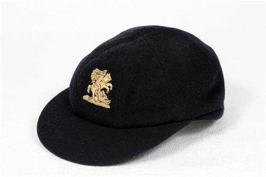 M C C  navy blue touring cap, by Simpson of Piccadilly, with
