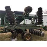 "John Deere 230 Disc, Hydraulic Fold, 24 Ft., 9"" Spacing,Rear Hitch & Hydraulics, Springtooth Harrow,"