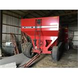 Unverferth 530 Side Dump Wagon, Brakes, 425-65R-22.5 Tires, Serial #B206-50-116, Red, Sharp