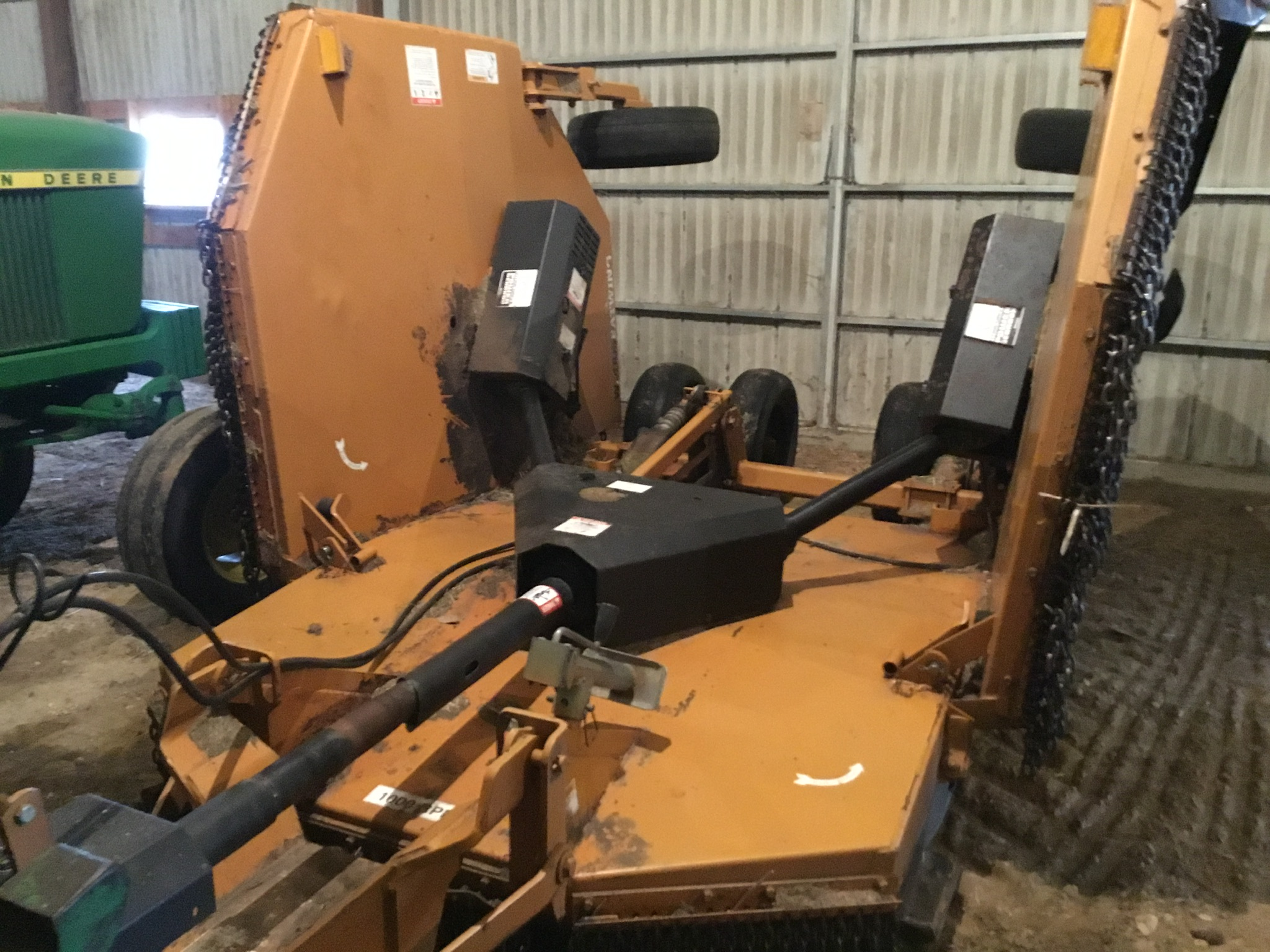 Woods 9309 Bat Wing Mower, 15Ft., 1,000 PTO, Chains, 6 Aircraft Tires, Serial #745029