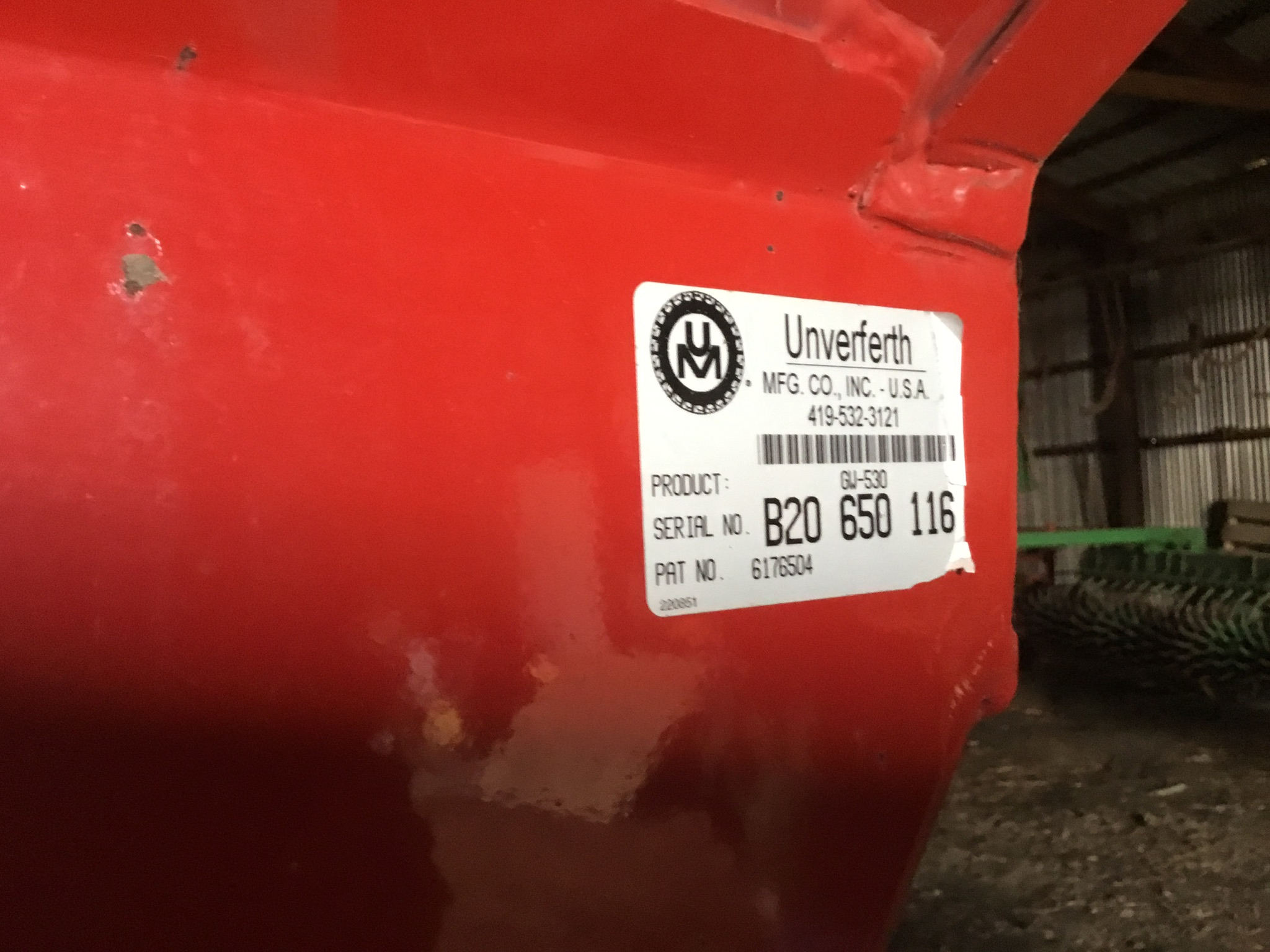 Unverferth 530 Side Dump Wagon, Brakes, 425-65R-22.5 Tires, Serial #B206-50-116, Red, Sharp - Image 4 of 4