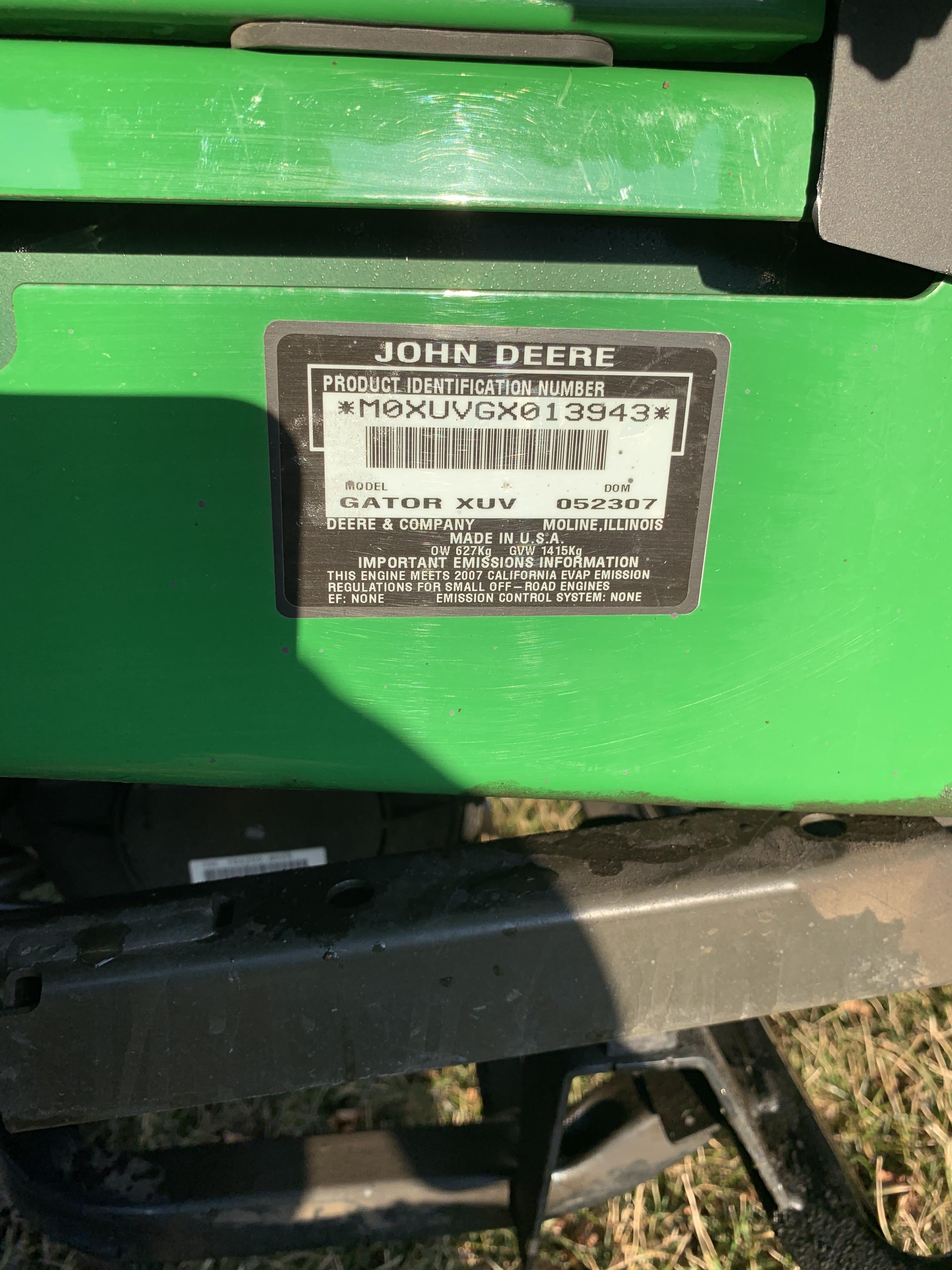 John Deere 2007 620I Gator XUV, 4x4, - Image 6 of 8
