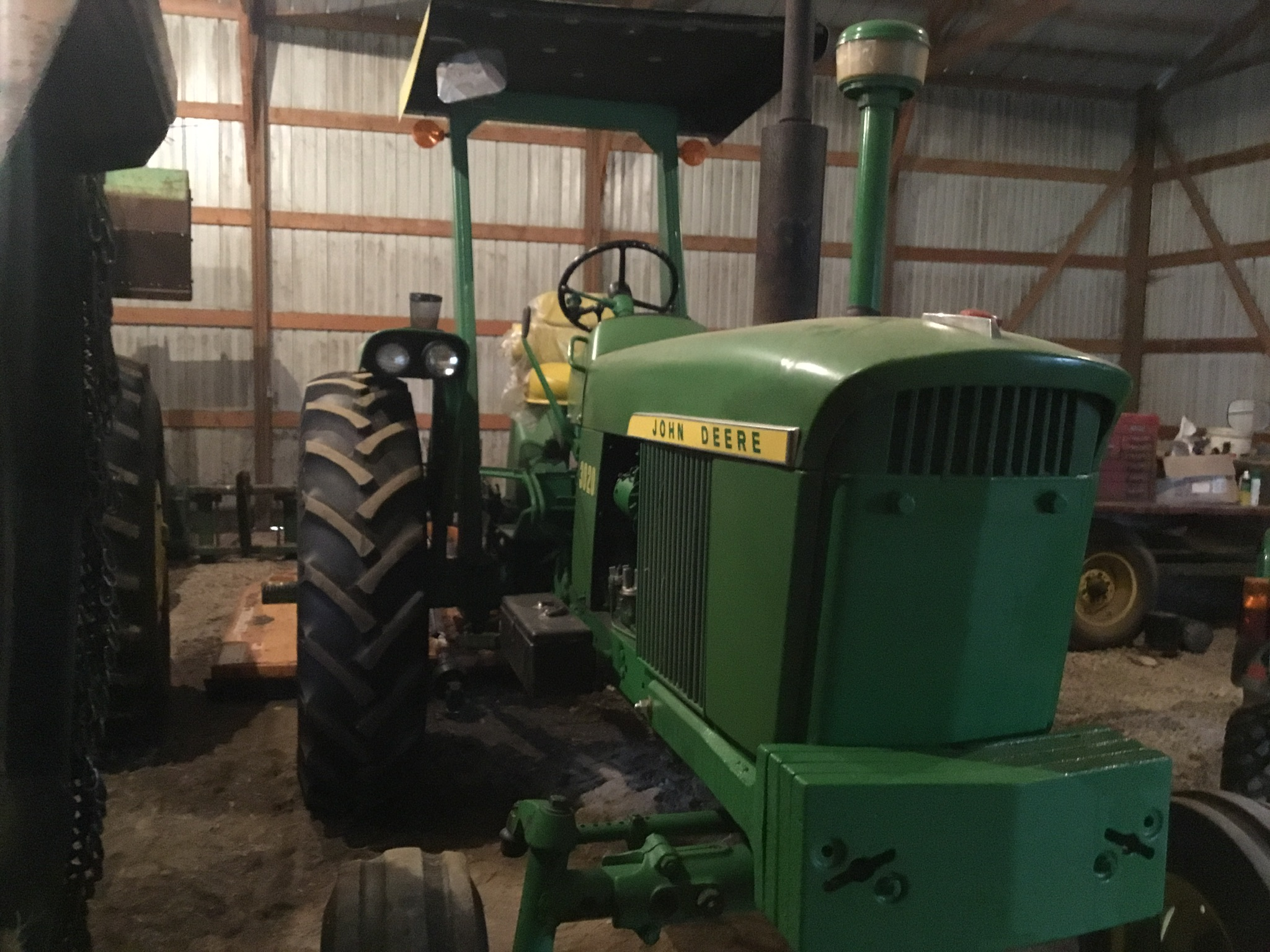 1966 John Deere 3020 Gas, JD Wide Front, Synchro Range, Roll Bar & Canopy, Dual Hydraulic Remotes, - Image 10 of 13