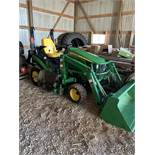 "2014 John Deere 1025R MFWD, Hydrostatic, W/Loader, W/60"" Mower Deck, Cat 1 Quick Hitch, Roll Bar,"