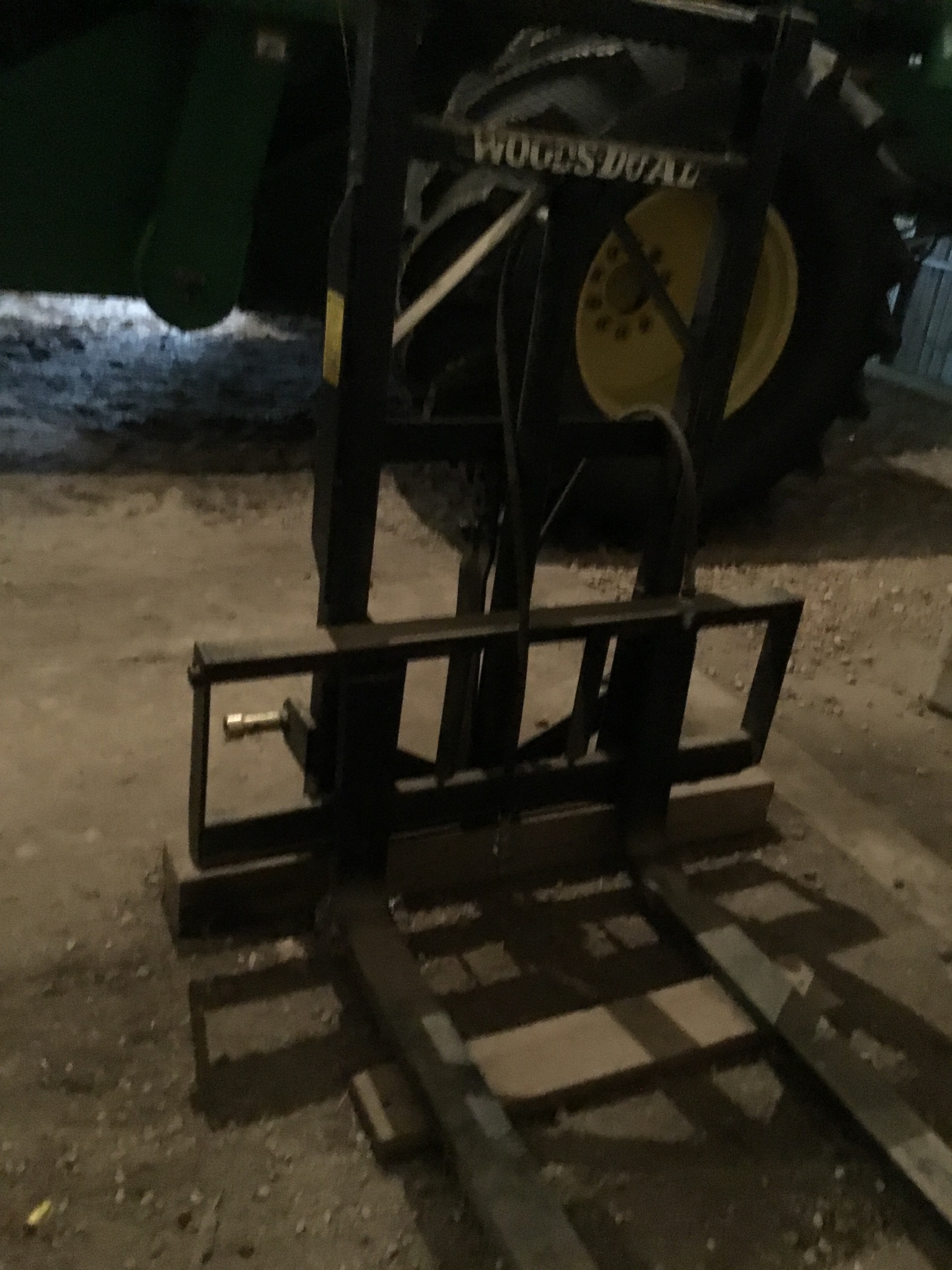 Woods Model 40 3Pt. Hitch Fork Lift 2 Stage, Serial #4560 - Image 2 of 4
