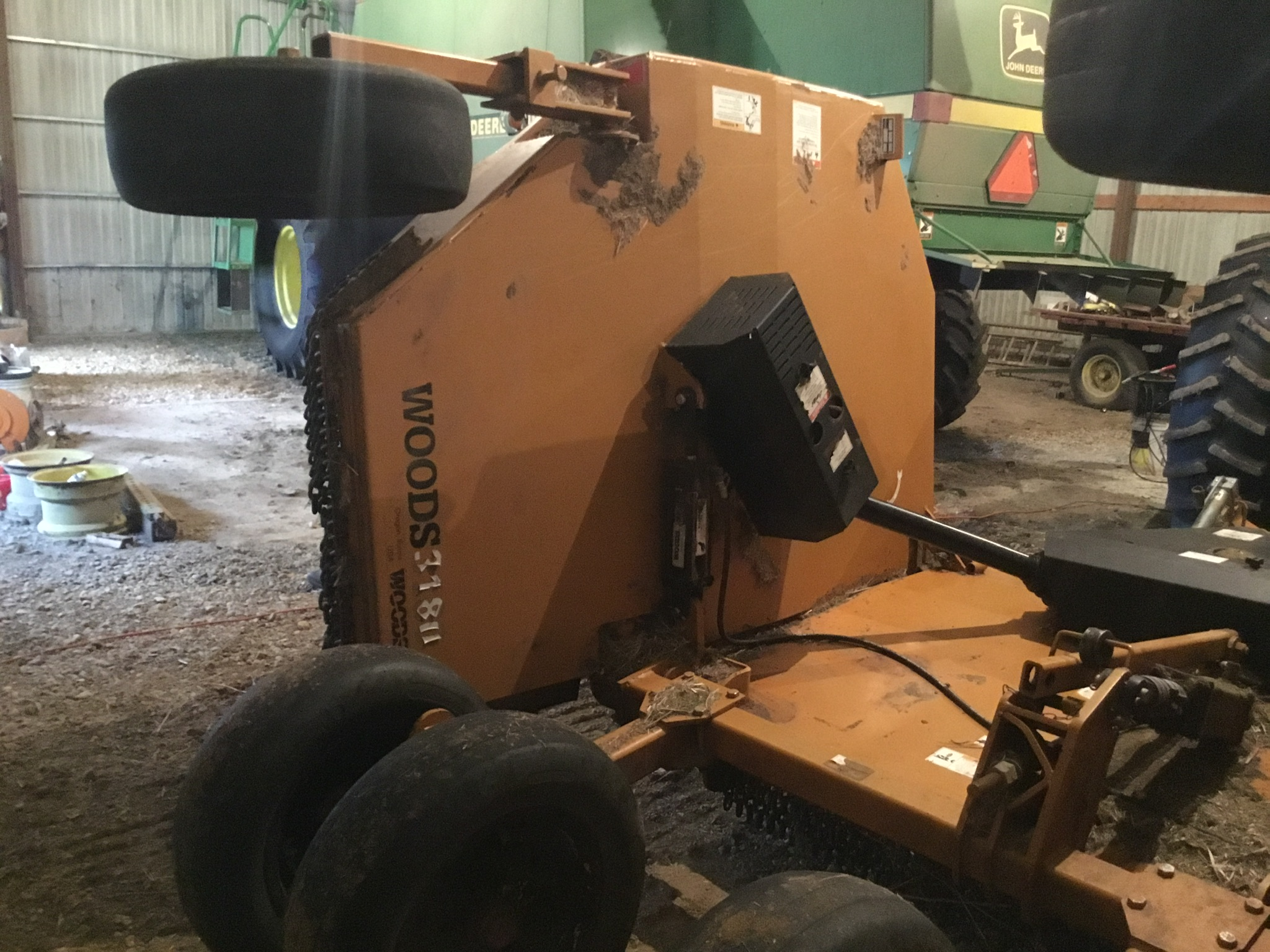Woods 9309 Bat Wing Mower, 15Ft., 1,000 PTO, Chains, 6 Aircraft Tires, Serial #745029 - Image 9 of 9
