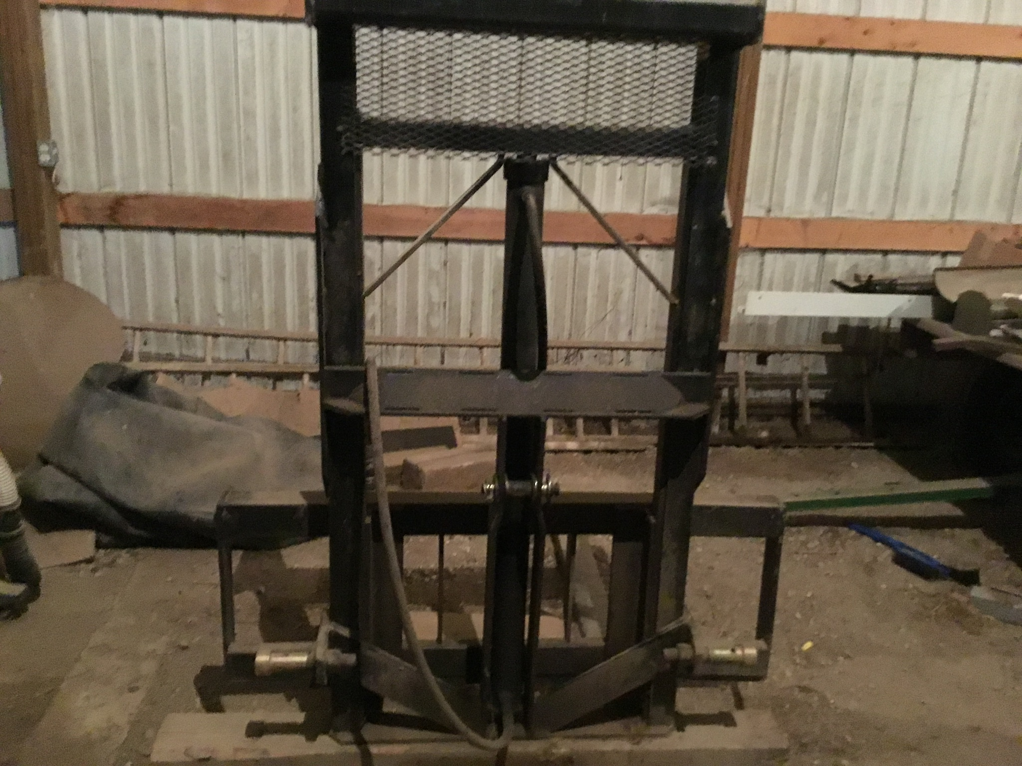 Woods Model 40 3Pt. Hitch Fork Lift 2 Stage, Serial #4560