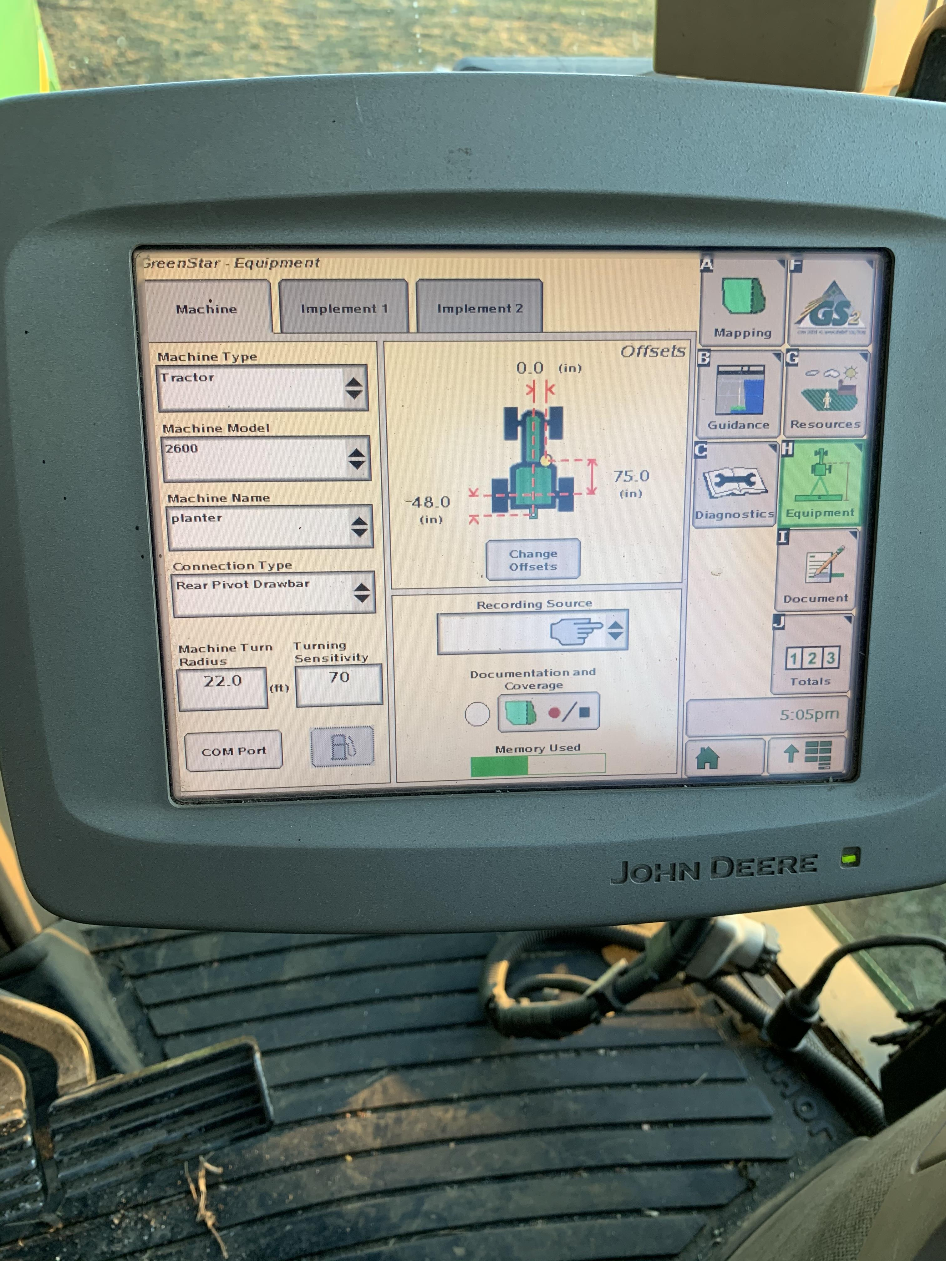 John Deere 2600 Monitor Console, Serial #PCGU26H211463. Auto Tract Activation - Image 5 of 6