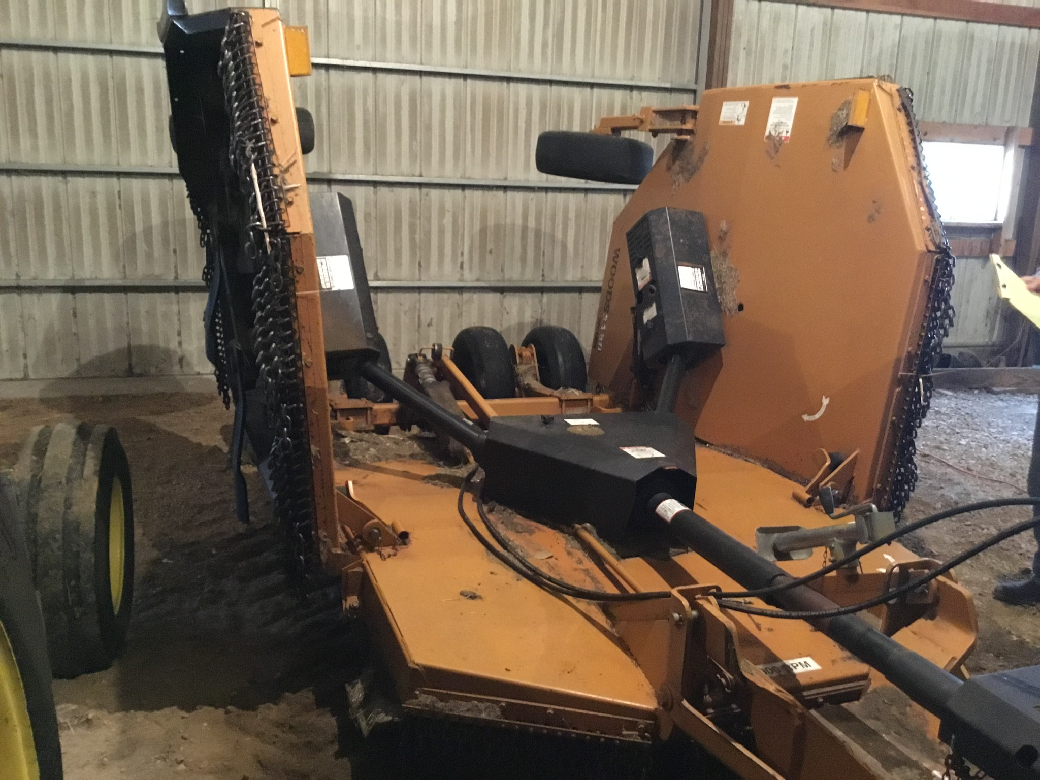 Woods 9309 Bat Wing Mower, 15Ft., 1,000 PTO, Chains, 6 Aircraft Tires, Serial #745029 - Image 6 of 9