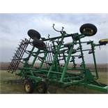 "John Deere 980 Field Cultivator, 30Ft., 5 Bar Harrow, Walking Tandems, 9"" Shovels, Serial #"
