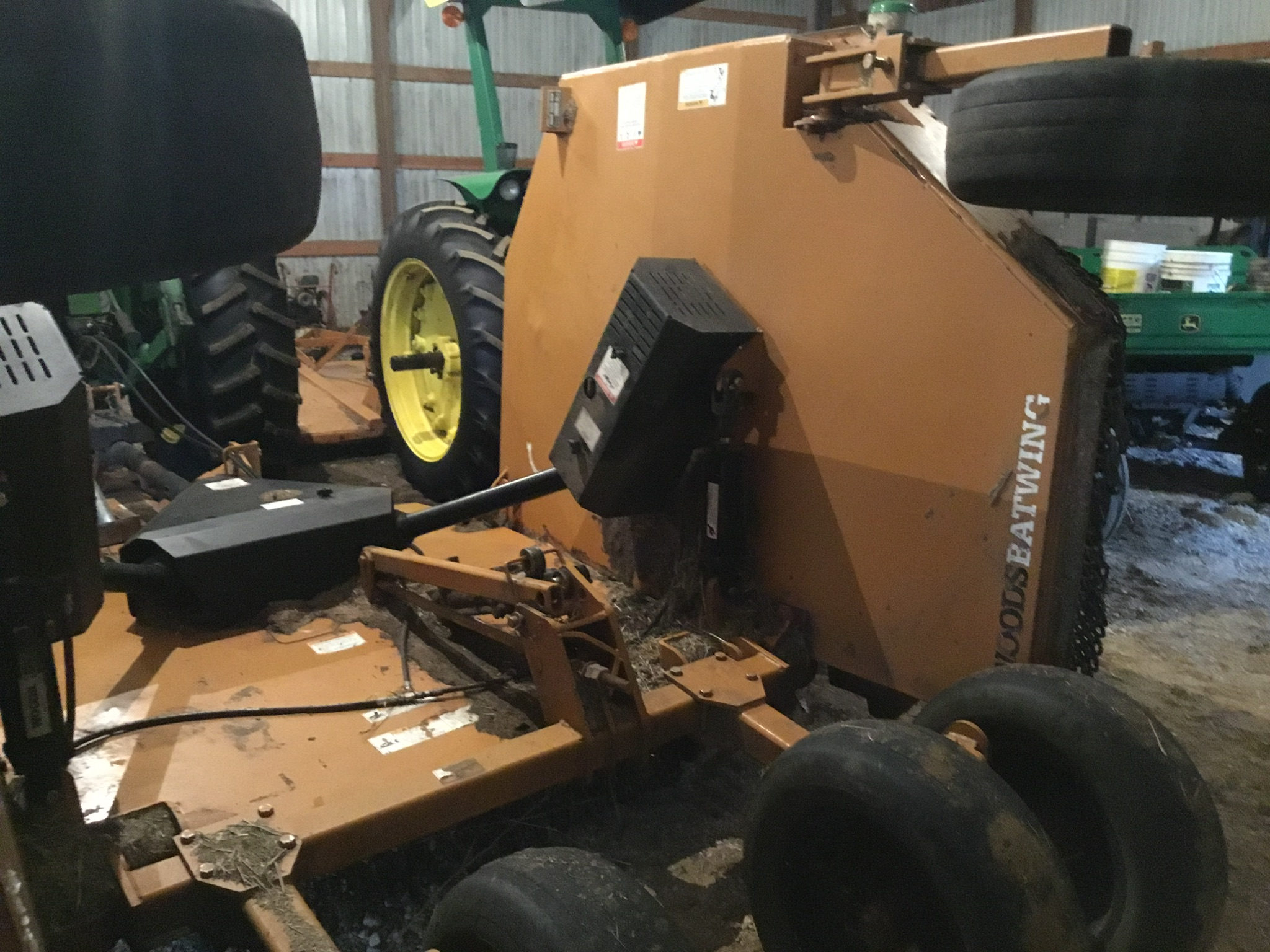 Woods 9309 Bat Wing Mower, 15Ft., 1,000 PTO, Chains, 6 Aircraft Tires, Serial #745029 - Image 7 of 9