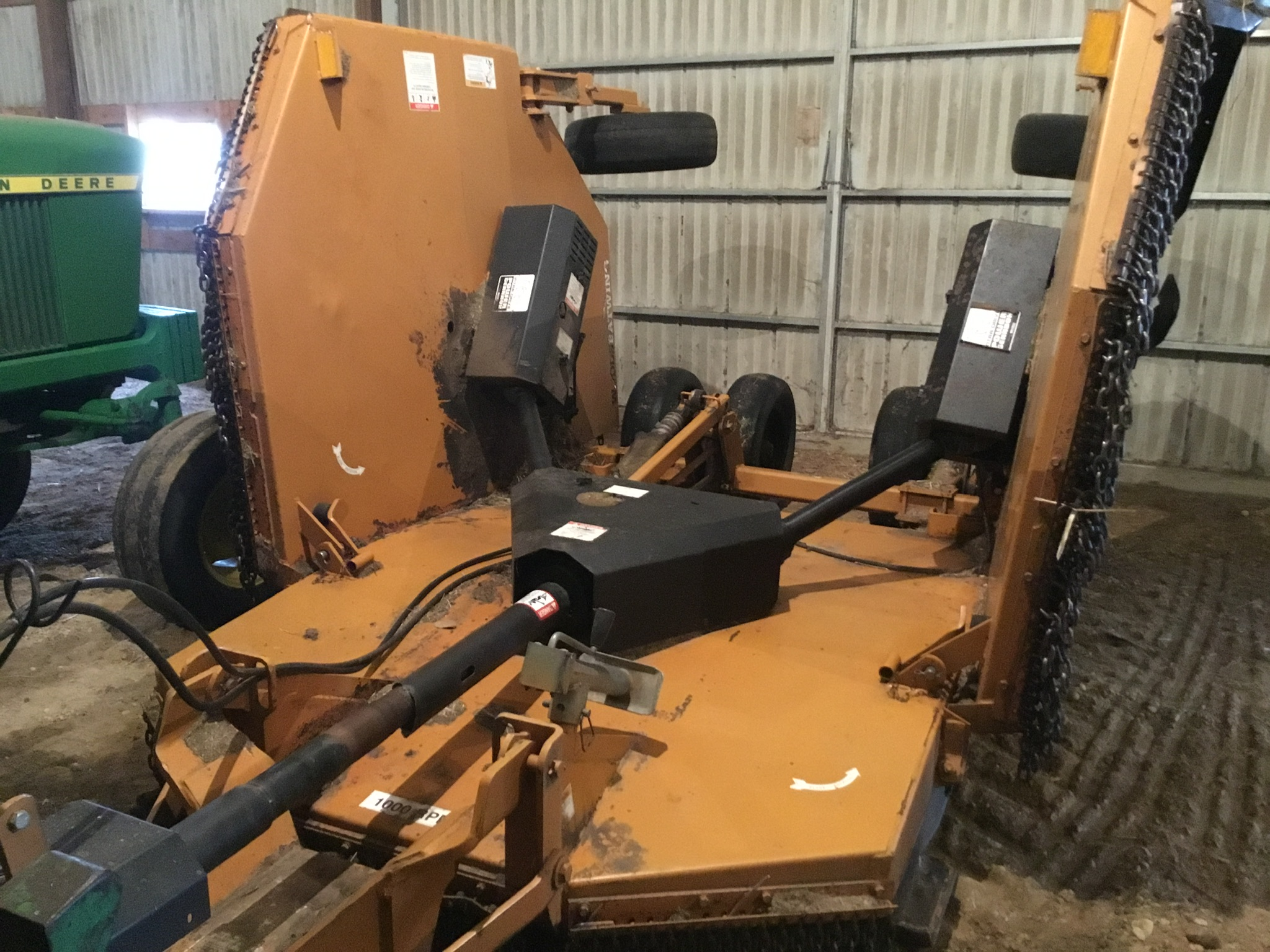 Woods 9309 Bat Wing Mower, 15Ft., 1,000 PTO, Chains, 6 Aircraft Tires, Serial #745029 - Image 5 of 9