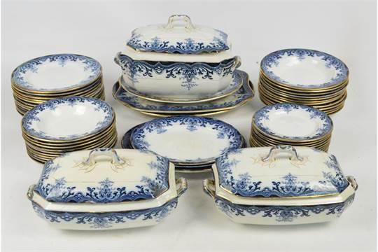 A quantity of Victorian dinnerware by David Methven u0026 Sons  Imperial  pattern including three t & A quantity of Victorian dinnerware by David Methven u0026 Sons ...