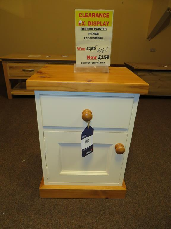 Lot 187 - Oxford Painted Range Pot Cupboard
