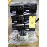 LOT OF TAMPER RESISTANT SECURITY DOME CAMERAS (6), CCTV