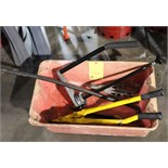 LOT CONSISTING OF: crowbar, tin snips, stretch wrap dispenser