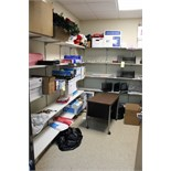 Lot 458 - LOT CONSISTING OF OFFICE SUPPLY ROOM (shelves not included)