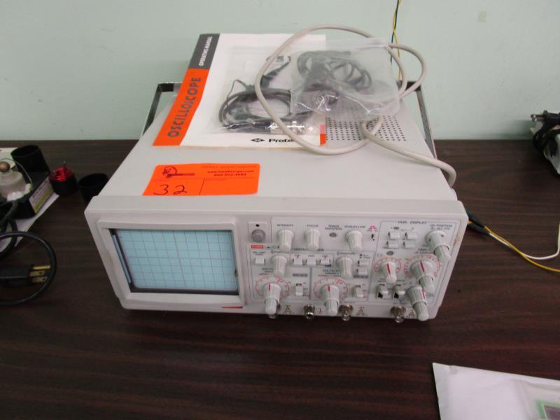 Lot 32 - Protek 100MHZ Oscilloscope, Model: 6510