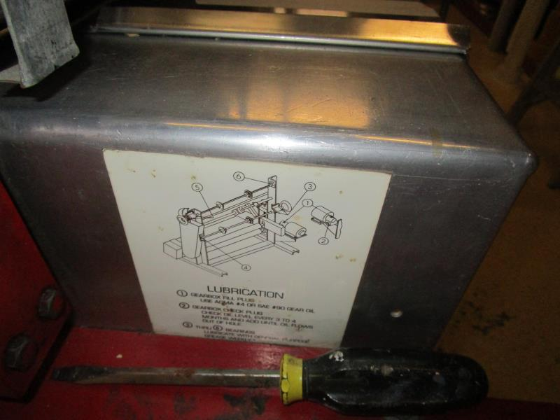"""Lot 1 - Cold Roll Laminator, 28"""" Max Roll Size, Speed Controller & Baldor Motor"""
