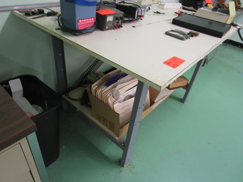 Work Table w/ Metal Frame w/ Laminate Top - Image 2 of 2