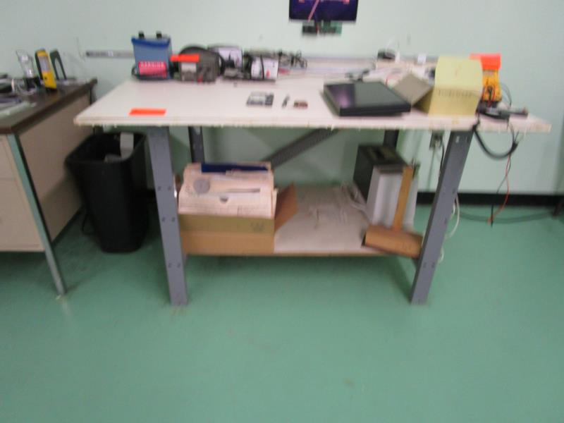 Lot 43 - Work Table w/ Metal Frame w/ Laminate Top