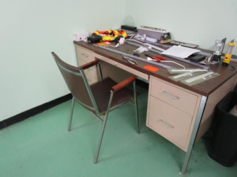 Lot 44 - Six Drawer Metal Desk