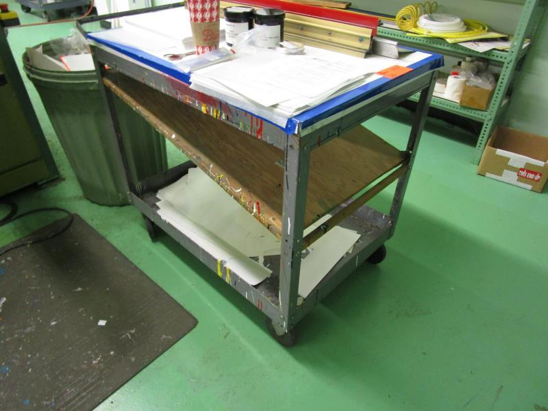 Lot 25 - Metal Rolling Shop Cart