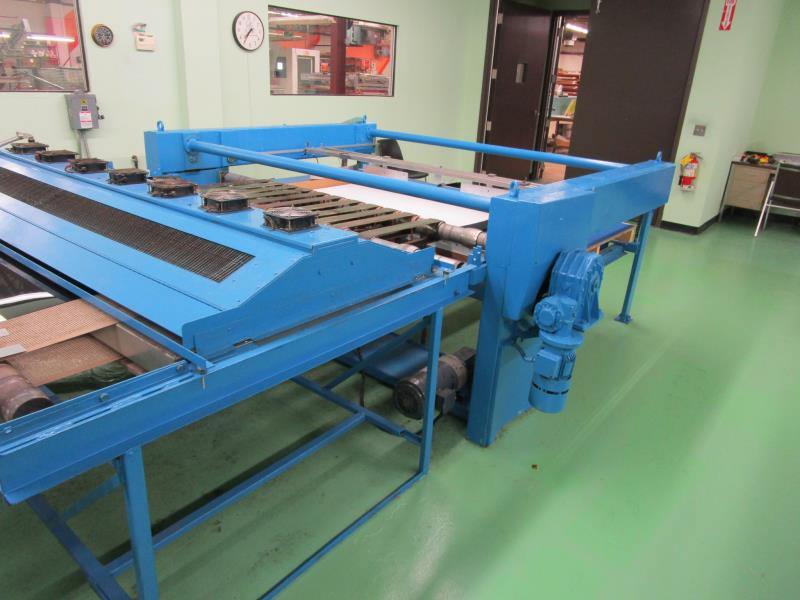 "Lot 18 - Large Format Screen Printer, 72"" Giant Jogger by Foser, Model: Staker1480, 208Volt, 60Hz, 2.5kw,"